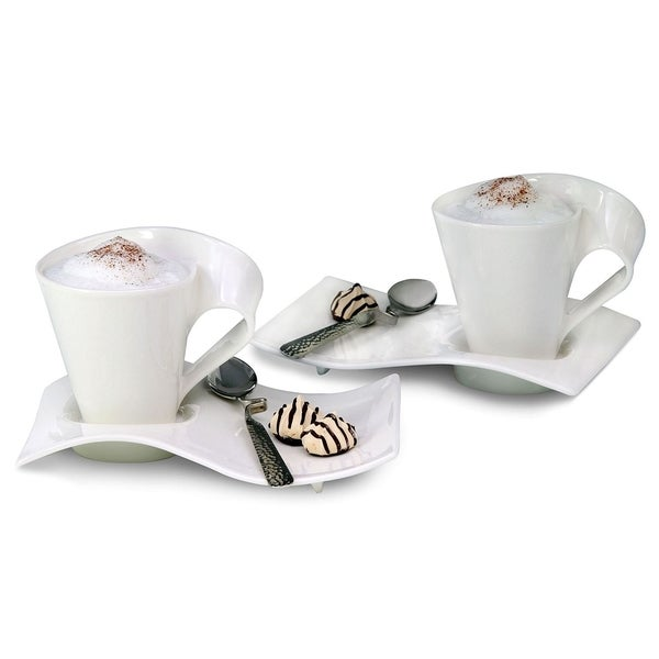 5939bffcc1b Shop Villeroy   Boch New Wave Caffe Mugs and Spoons Set - Free Shipping  Today - Overstock - 8126972