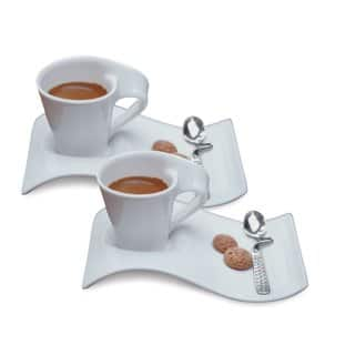 Villeroy and Boch New Wave 6-piece Caffe Espresso Set (Service for 2)|https://ak1.ostkcdn.com/images/products/8126985/8126985/Villeroy-Boch-New-Wave-Caffe-Espresso-Cups-Saucers-and-Spoons-Set-P15472804.jpg?impolicy=medium