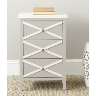 Safavieh Sherrilyn Grey/ Cream Storage 3-drawer Side Table
