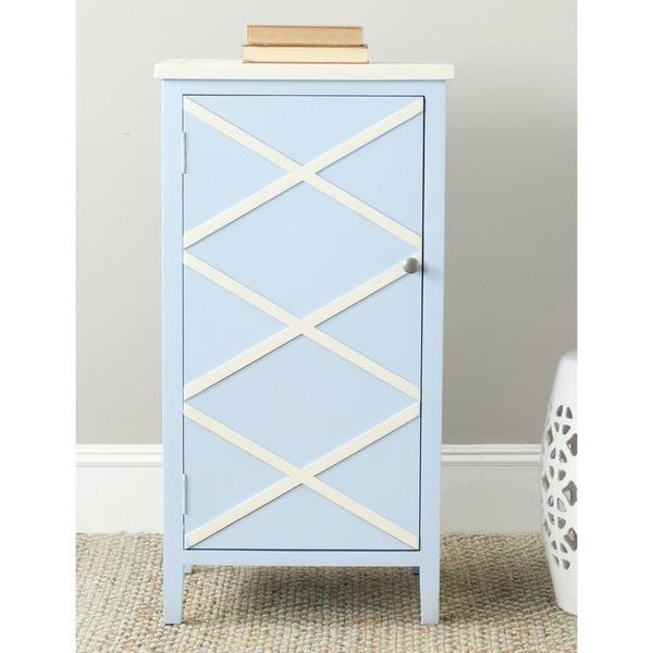 Safavieh Cary Light Blue/ White Storage Small Cabinet