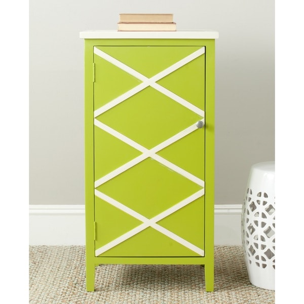 Safavieh Cary Lime Green/ White Storage Small Cabinet