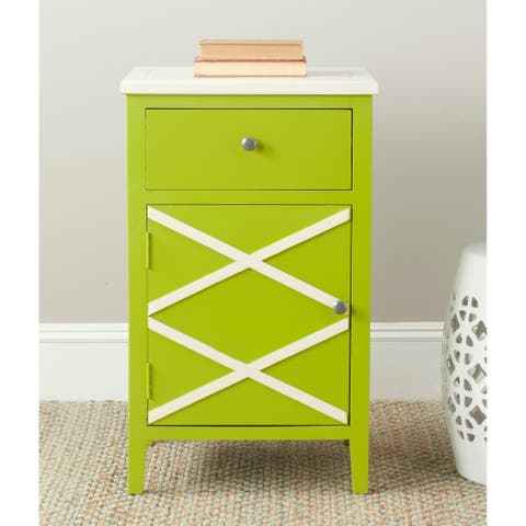 Safavieh Alan Lime Green/ White End Table - 0