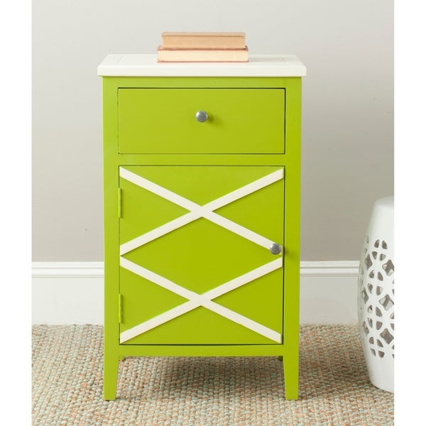 Safavieh Alan Lime Green/ White End Table - 0. Opens flyout.