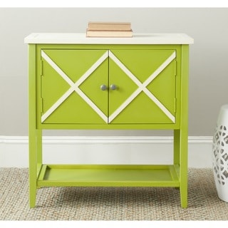 Safavieh Polly Lime Green/ White Storage Sideboard