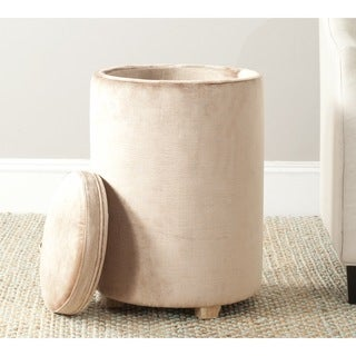 Safavieh Jeannie Mink Brown Linen Blend End Table
