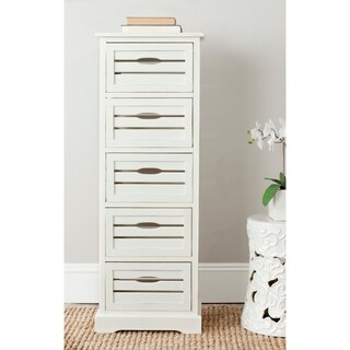 "Safavieh Sarina Grey Storage 5-Drawer Cabinet - 16.5"" x 12.6"" x 46.5"""