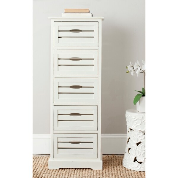 "Safavieh Sarina Grey Storage 5-Drawer Cabinet - 16.5"" x 12.6"" x 46.5"""
