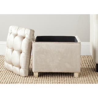 Fabric Cocktail Ottoman At Overstock
