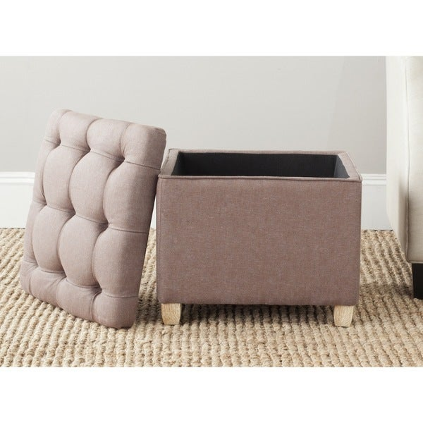 Safavieh Joanie Storage Brown Ottoman