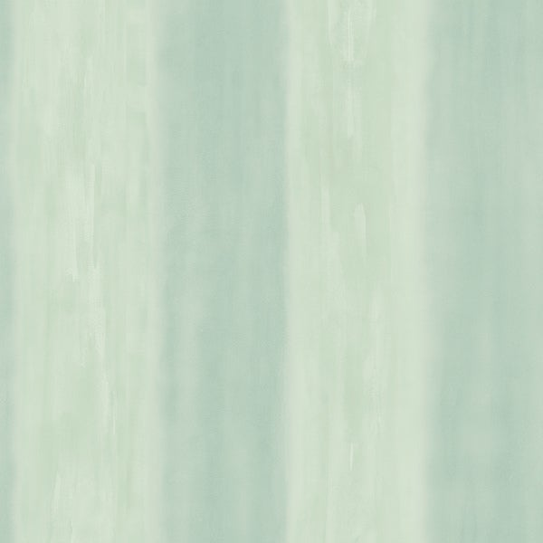Brewster Sea Green Watercolor Stripe Wallpaper
