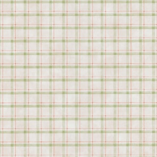 Brewster Green Plaid Wallpaper