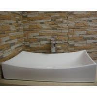 Fine Fixtures White Ceramic Chinaware 26-inch Vessel Sink