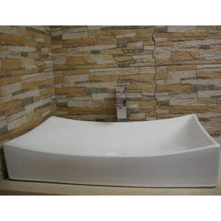 Fine Fixtures White Ceramic Chinaware 26-inch Vessel Sink
