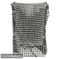 J Furmani Metal Mesh and Rhinestone Cell Phone Bag
