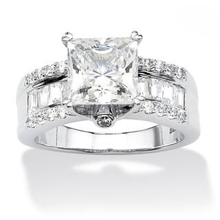 3.43 TCW Princess-Cut Cubic Zirconia Platinum over Sterling Silver Engagement Anniversary|https://ak1.ostkcdn.com/images/products/8129484/8129484/Ultimate-CZ-Platinum-over-Silver-Princess-cut-Cubic-Zirconia-Ring-P15474859.jpg?impolicy=medium