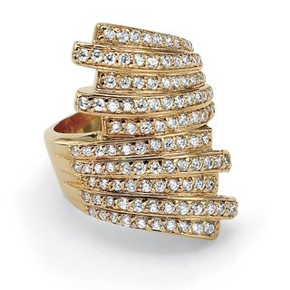 Ultimate CZ Multi-row Cubic Zirconia Bypass Ring