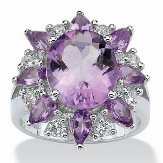 Sterling Silver Genuine Amethyst Ring