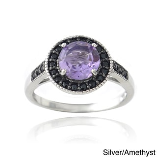 Link to Glitzy Rocks Sterling Silver or 18k Gold Overlay Gemstone And Black Spinel Ring Similar Items in Rings