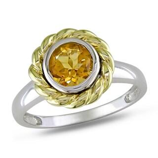 Miadora 14k Two-tone Gold Citrine Ring