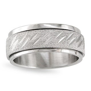 Miadora Stainless Steel Men's Spinner Ring