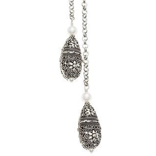 Lola's Jewelry Silver 'Two Drops of Elegancy' Lariat Long Necklace|https://ak1.ostkcdn.com/images/products/8129684/8129684/Charming-Life-Silver-Two-Drops-of-Elegancy-Lariat-Long-Necklace-P15475031.jpg?impolicy=medium