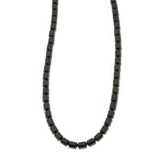 Charming Life Unisex Sterling Silver 'Cool Black' Hematite Necklace