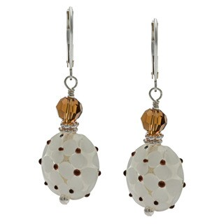 Lola's Jewelry Sterling Silver 'Kentucky Derby' Glass Earrings
