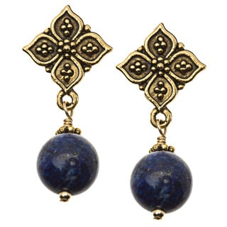 Charming Life Gold 'Pretty in Blue' Lapis Post Earrings
