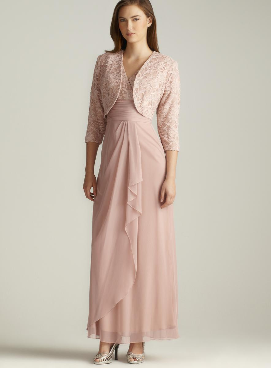 Patra Lace Chiffon Draped Jacket Dress - Free Shipping Today