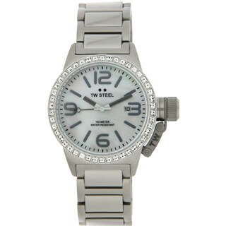 TW Steel Women's Mother of Pearl Dial Crystal-accented Watch