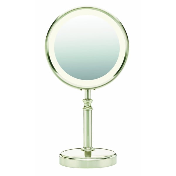 Conair BE116T Lighted Satin Nickel Makeup Mirror