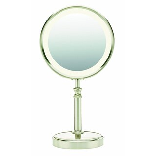 Conair BE116T Lighted Satin Nickel Makeup Mirror (As Is Item)