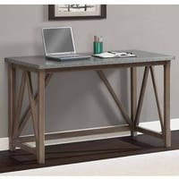 Carbon Loft Zinc Top Bridge Desk
