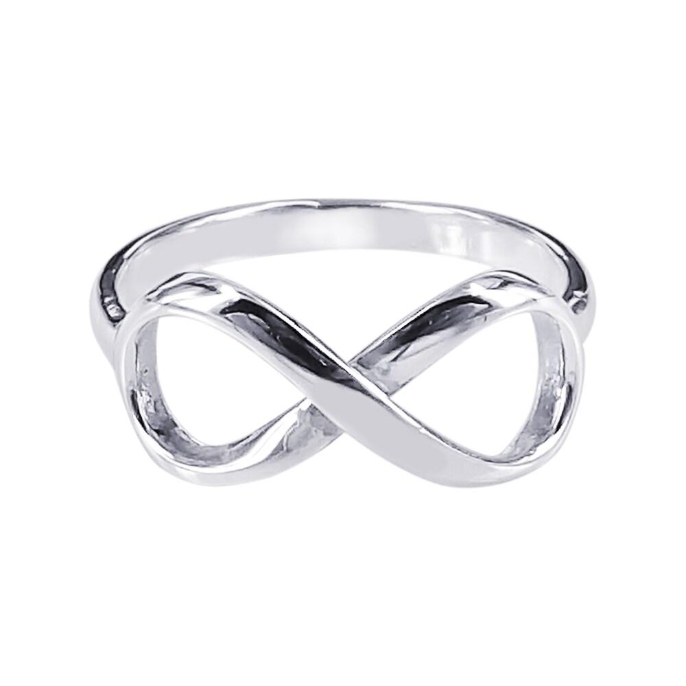Aeravida Handmade Sterling Silver Endless Love Infinity S...