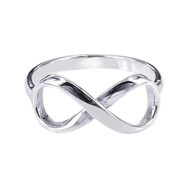Handmade Sterling Silver Endless Love Infinity Symbol Ring (Thailand)