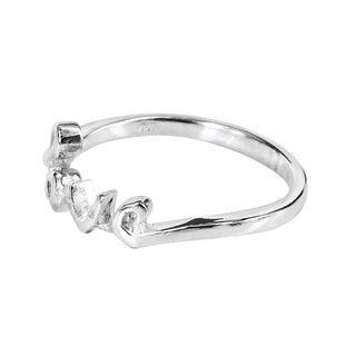 Sterling Silver Sweet Charms of Love Ring (Thailand)