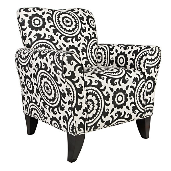 Better Living Seth Black Medallion Curved Back Arm Chair