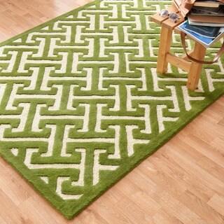 Hand-tufted Logan Lawn Wool Rug (7'10 x 11'0)