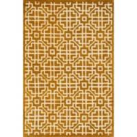 Hand-tufted Logan Gold Wool Rug - 3'6 x 5'6