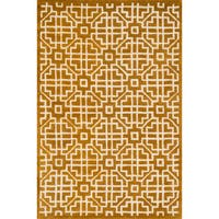 Hand-tufted Logan Gold Wool Rug - 5' x 7'6