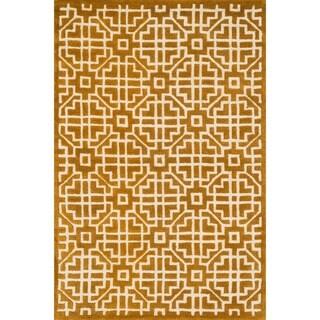 Hand-tufted Logan Gold Wool Rug (7'10 x 11'0)
