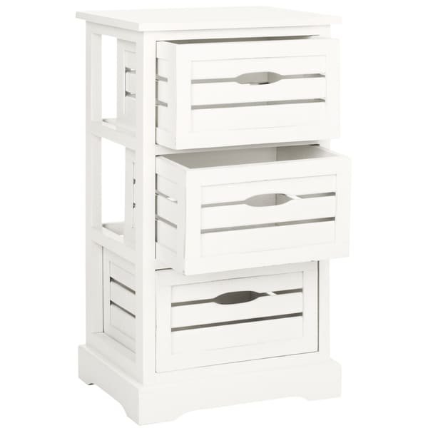 Safavieh Samara Grey Storage 3 Drawer Cabinet
