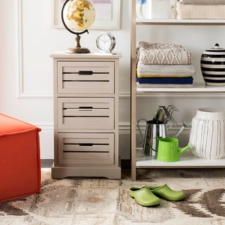 Safavieh Samara Grey Storage 3-Drawer Cabinet - 0