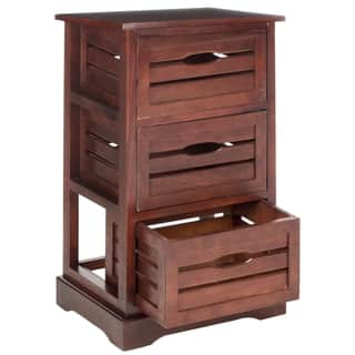 safavieh samara cherry storage 3 drawer cabinet - Affordable Bookshelves
