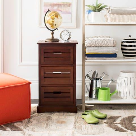 "SAFAVIEH Samara Cherry Storage 3-Drawer Cabinet - 16.5"" x 12.6"" x 29.5"""