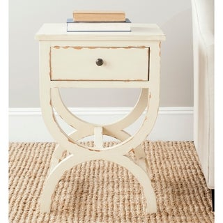 "Safavieh Maxine Disstressd Vanilla End Table - 18"" x 15"" x 26.8"""