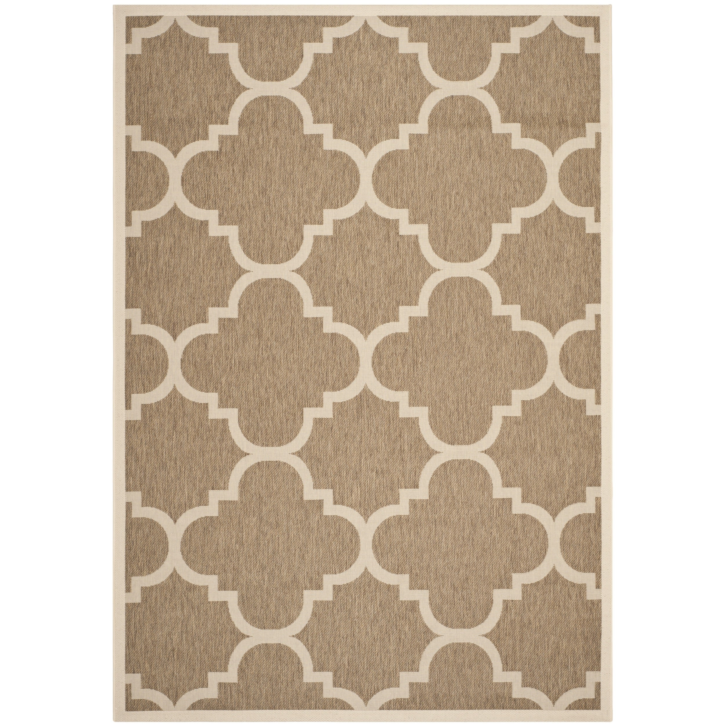 Safavieh Indoor/ Outdoor Courtyard Brown Rug (5'3 x 7'7) Safavieh 5x8   6x9 Rugs
