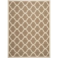 Safavieh Courtyard Moroccan Trellis Brown/ Bone Indoor/ Outdoor Rug - 8' x 11'