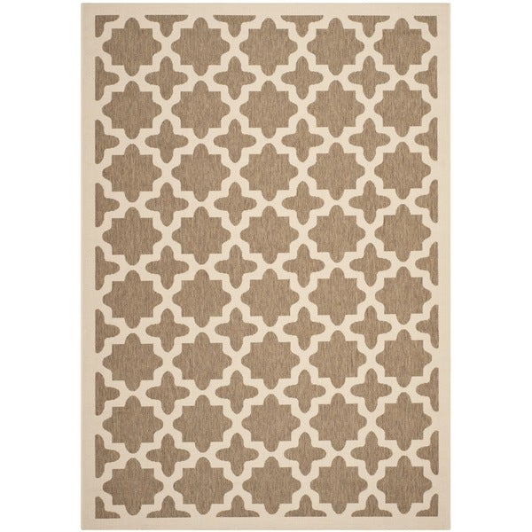 Safavieh Courtyard All-Weather Brown/ Bone Indoor/ Outdoor Rug - 8' x 11'