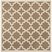 Safavieh Courtyard All-Weather Brown/ Bone Indoor/ Outdoor Rug - 7'10 Square